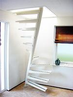 Μικρή σκάλα 1 m2 για μικρά δωμάτια