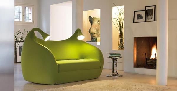Καναπές με ενσωματωμένα φωτιστικά