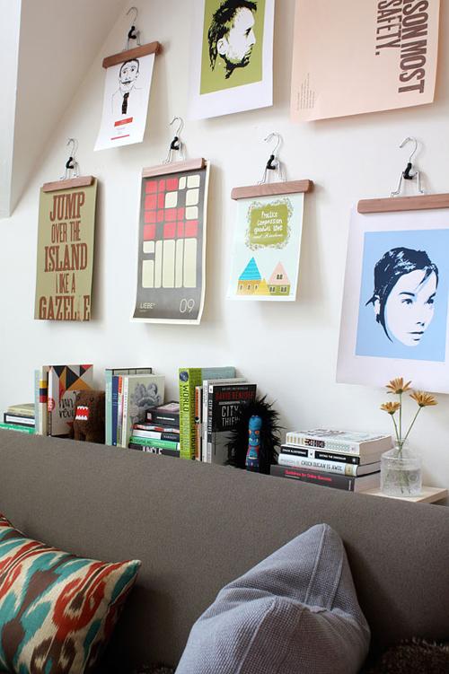Διακοσμήστε τους τοίχους σας χωρίς κορνίζες