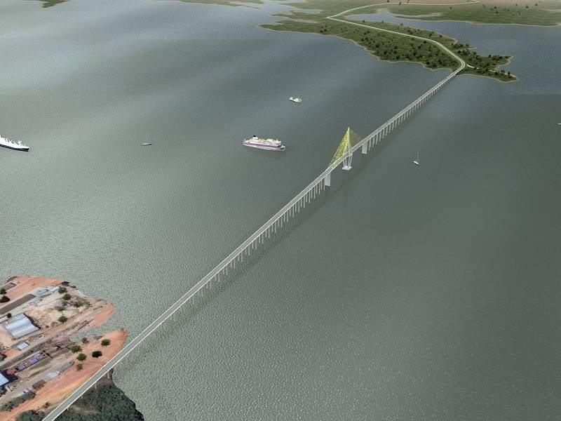 Εντυπωσιακή γέφυρα στον ποταμό Rio Negro του Αμαζονίου