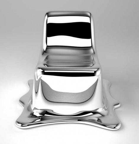 """Καρέκλα (λιωμένη) εμπνευσμένη από τον """"Εξολοθρευτή 2"""""""