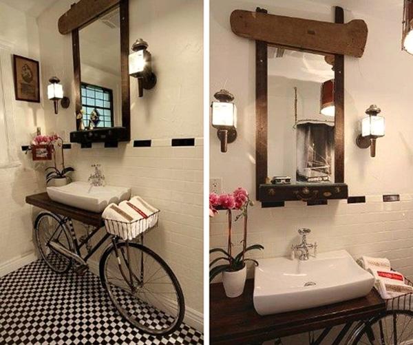 Ποδήλατο - νιπτήρας για το μπάνιο