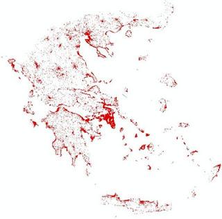 Οι πρώτοι χάρτες με τα αυθαίρετα που έχουν καταγραφεί