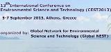 13o Διεθνές Συνέδριο Περιβαλλοντικής Επιστήμης και Τεχνολογίας, 5-7 Σεπτεμβρίου 2013